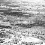 Oblique aerial shot taken circa 1959 as part of the planning for the Perry Lakes stadium complex.  Shot taken looking SE with East Lake (in distance) and West Lake (in foreground).