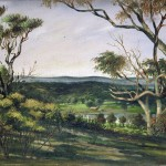 Entitled 'Twixt Coast and City' (oil on canvas 29.2 x 39.6 cm) painted by Walter Frederick Ramage in 1913.  The painting is the view towards Perth and the old Perry family homestead at Perry's Swamps.  Walter Ramage was a local Fremantle artist.  He painted theatre backdrops and landscapes around Perth and the goldfields.  He was an art instructor at the Midland Junction Technical School in the late 1930's. As far as we are aware the painting represents the oldest pictorial documentation of Perry Lakes. Some hydrological information can be inferred from the painting (refer thesis Chapter 2).  Ramage's painting appears as the frontispiece in the thesis.